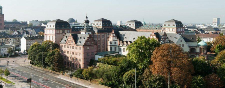 Panorama TU Darmstadt Stadtmitte
